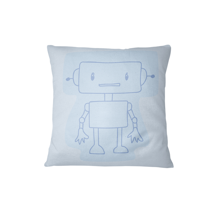 Throw cushion - Robots | Blue