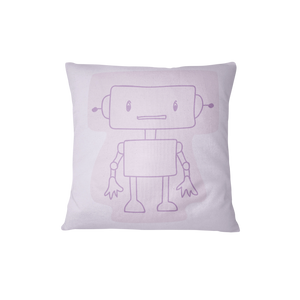 Throw cushion - Robots | Purple