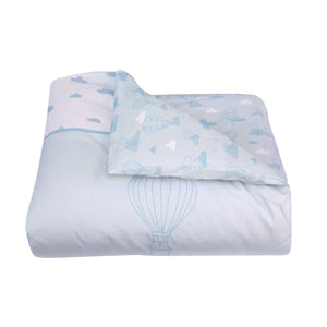 Organic cotton duvet cover bedding set - Balloons | Blue