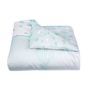 Organic cotton duvet cover bedding set - Balloons | Mint
