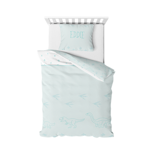 Organic cotton duvet cover bedding set - Dinos | Mint