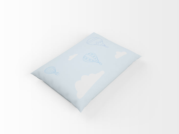 Organic cotton pillowcase - GOTS-certified - Balloons | Blue