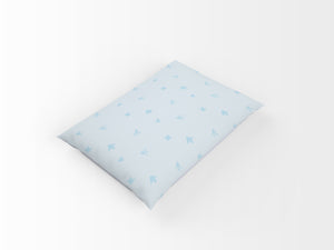 Organic cotton pillowcase - GOTS -certified - Dinos | Blue-pillowcase-Minimello