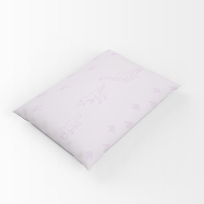 Organic cotton pillowcase - GOTS -certified - Dinos | Purple