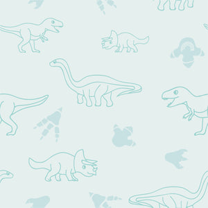 Organic cotton pillowcase - GOTS -certified - Dinos | Mint-pillowcase-Minimello