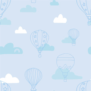 Organic cotton pillowcase - GOTS-certified - Balloons | Blue-Minimello