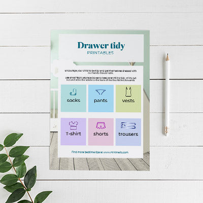 Minimello kids drawer tidy labels for calm kids bdedrooms