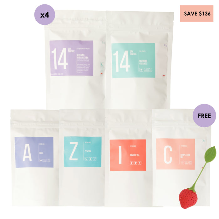 Yearly Cleanse - 4 x 14 Day Packs
