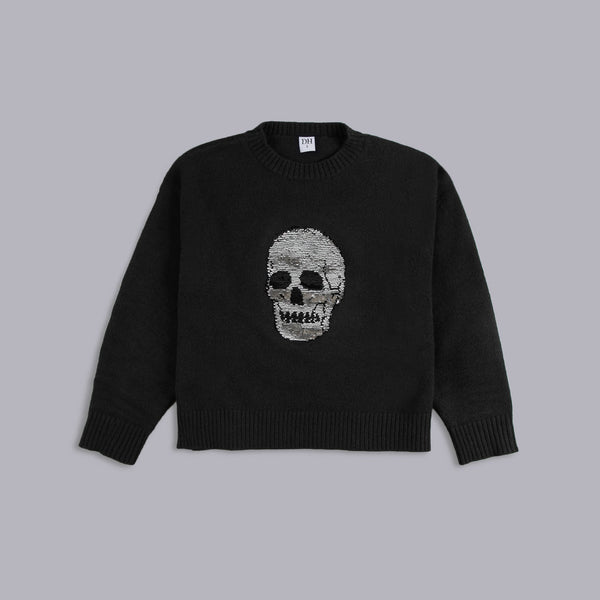 Sequin Skull Sweater