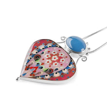 Load image into Gallery viewer, Blue Agate Enamel Pendant in Sterling Silver