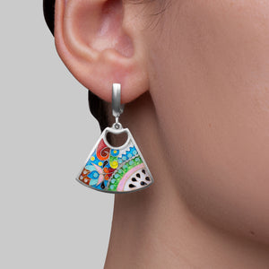 Enamel Jewelry Set with Ornaments