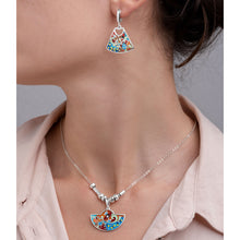 Load image into Gallery viewer, Enamel Earrings with Butterflies in Sterling Silver