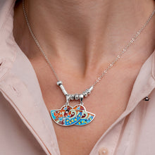 Load image into Gallery viewer, Enamel Jewelry Set with Butterflies in Sterling Silver