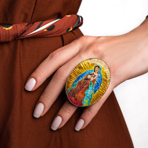 Lady of Guadalupe Statement Ring