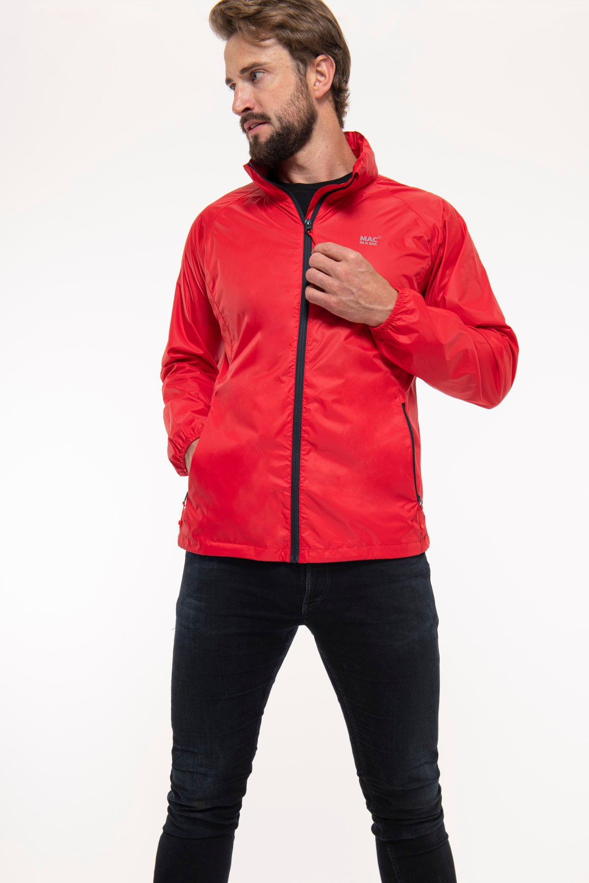 Origin Packable Waterproof Jacket - Red