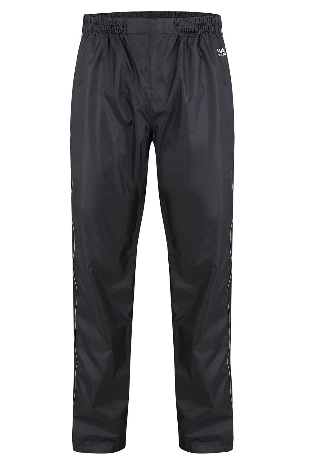 Overtrousers Packable Full Zip Waterproof Overtrousers - Black