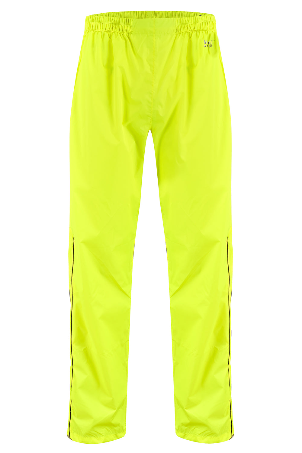 Overtrousers Packable Full Zip Waterproof Overtrousers - Neon Yellow