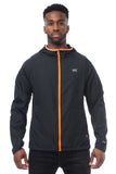 Mac in a Sac ULTRA Breathable Packable Running Jacket Black Zipped