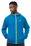 Mac in a Sac ULTRA Breathable Packable Running Jacket Blue Pockets