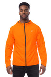 Mac in a Sac ULTRA Breathable Packable Running Jacket Orange Contrast Zip