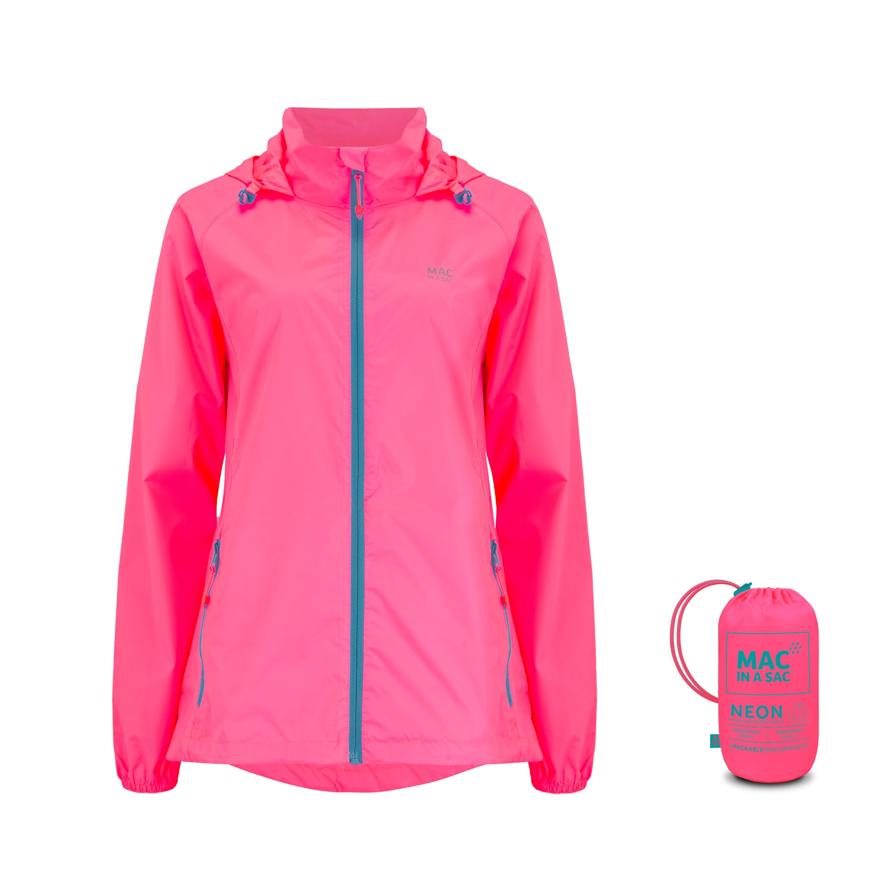 Origin Packable Waterproof Jacket - Neon Pink