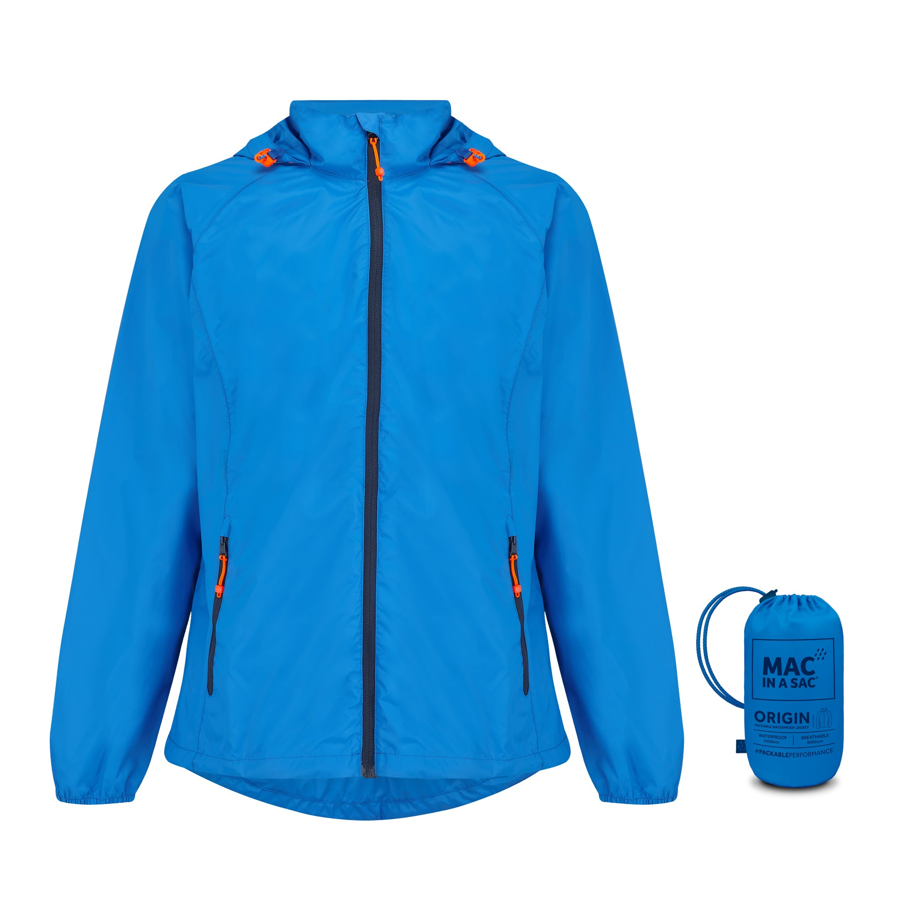 Origin Packable Waterproof Jacket - Ocean