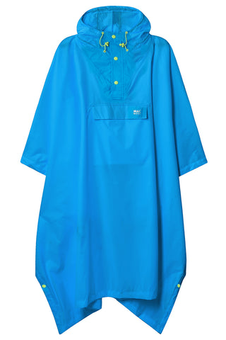 Waterproof Packable Poncho - Neon Blue