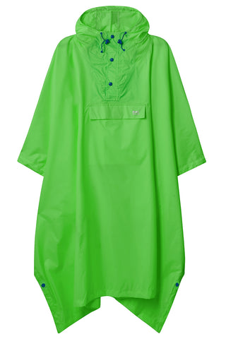 Waterproof Packable Poncho - Neon Green