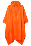 Waterproof Packable Poncho - Neon Orange
