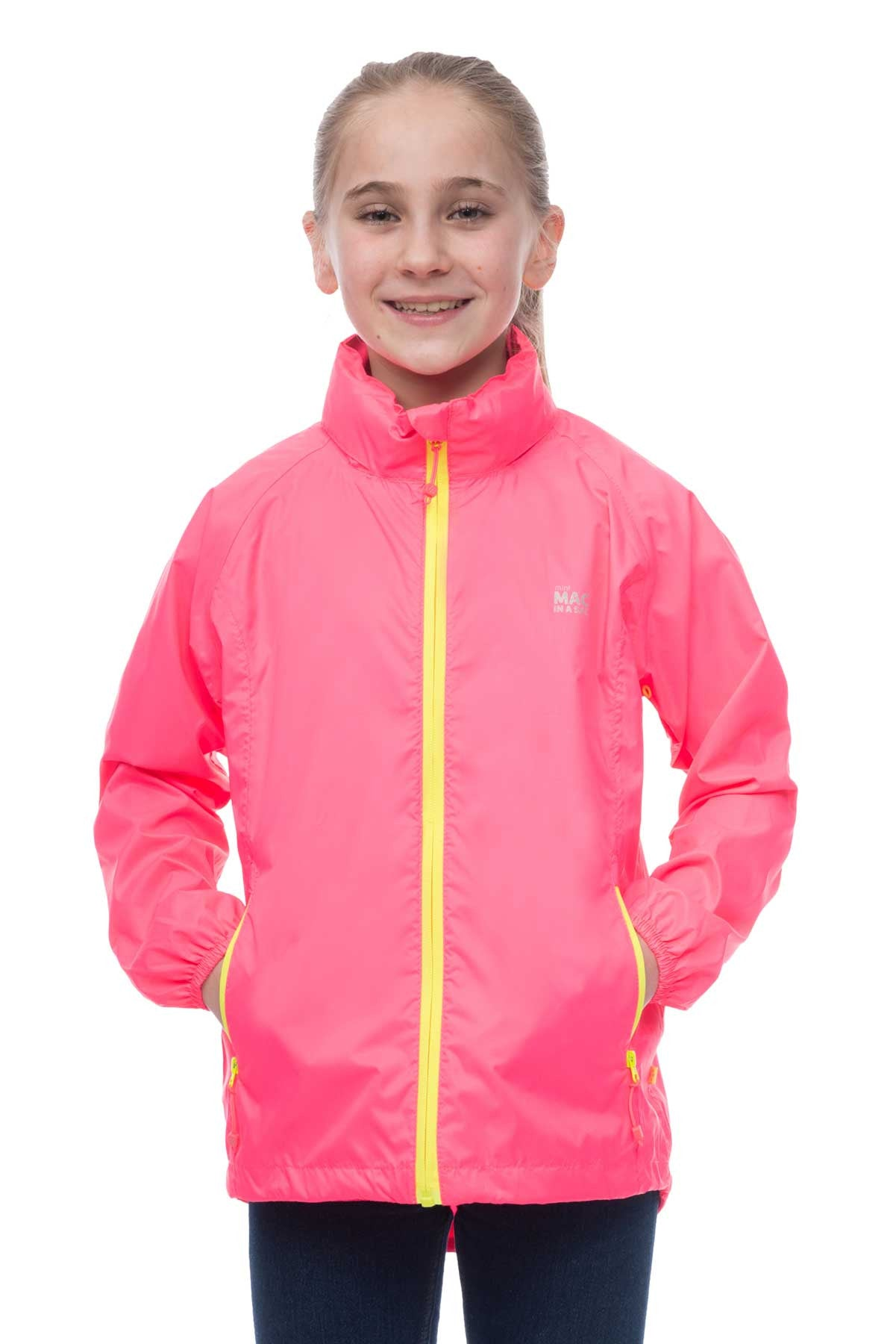 Mac in a Sac MINI Waterproof Packaway Jacket in Neon Pink