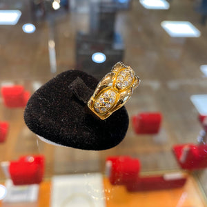 Bague cartier gentiane en or 18k