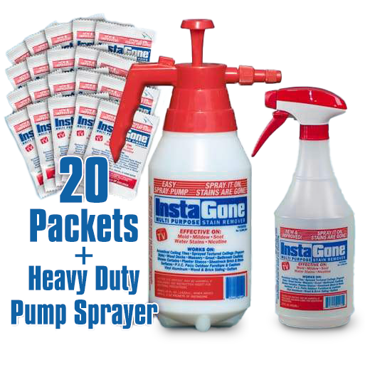 20 Instagone packets + FREE 22 oz bottle & 48 oz. Pump Sprayer!