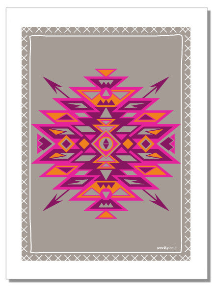 Aztec - tea towel