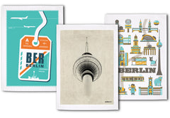 """Der Berlin-Dreier"" - Set Of 3 Tea Towels"