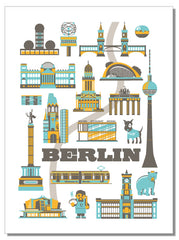 Berlin Icons - Tea Towel