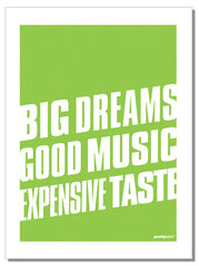 Big Dreams - tea towel