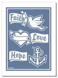 Faith, Love, Hope - Geschirrtuch