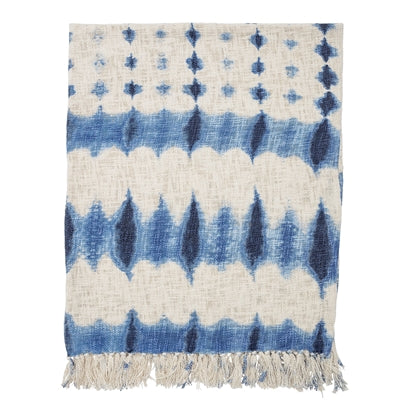 Blue Cotton Throw