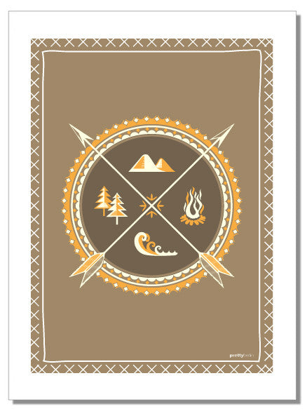 Natures elements - tea towel