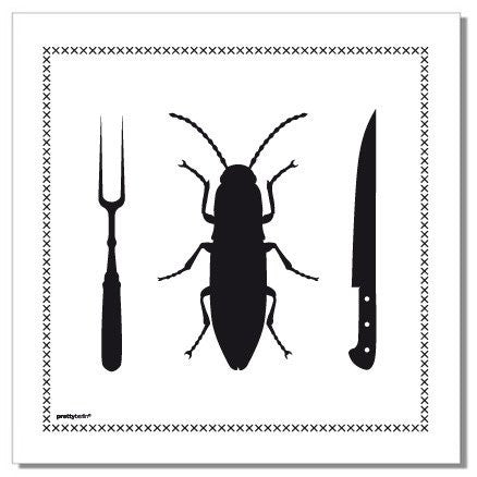 "Dinner Napkins ""Roach"" - Set of 4 Napkins (Stoffservietten)"