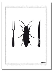Roach - tea towel