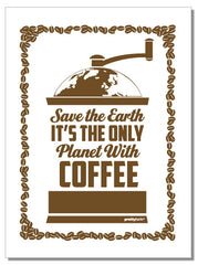 Save the Earth - tea towel