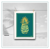 Friede, Freude, Ananas - tea towel