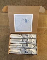 Boat and linear wave - box set of 4 napkins