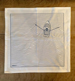 "Dinner Napkins ""Rowboat"" - Set of 4 Napkins (Stoffservietten)"