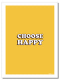 Choose Happy - Geschirrtuch