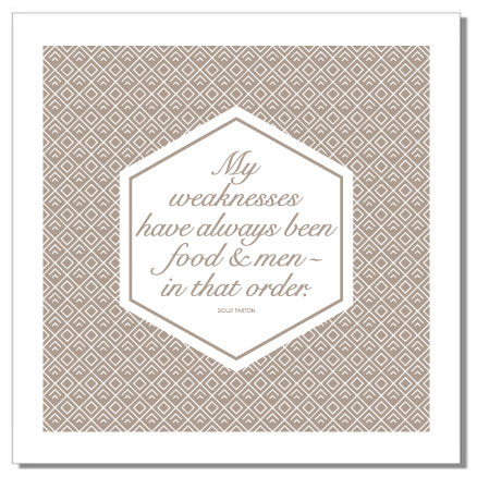 "Dinner Napkins ""Food Quotes"" - Set of 4 Napkins (Stoffservietten)"