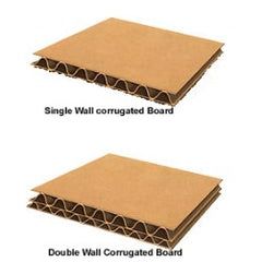Single and double wall corrugated construction