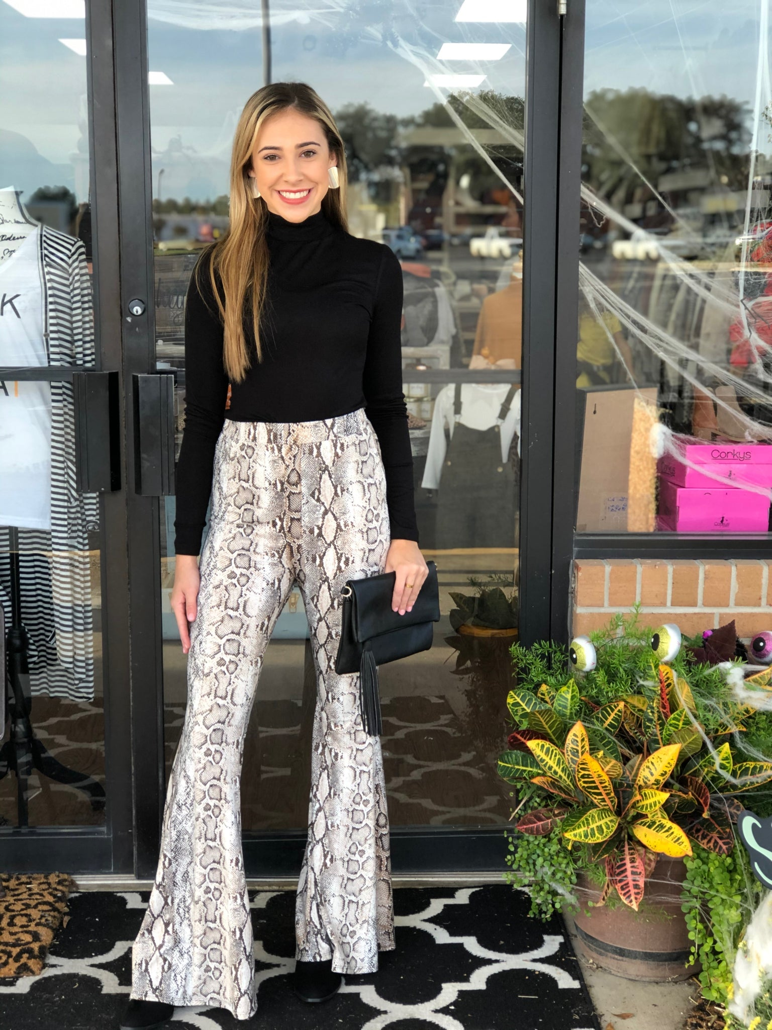 Snake Print Bell Bottoms