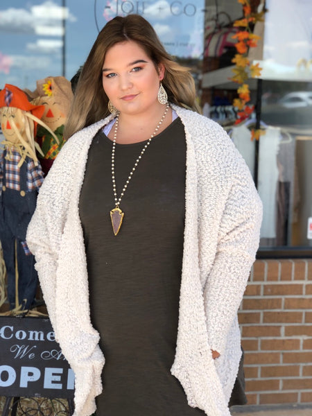 Popcorn Cardigan w/ Pockets